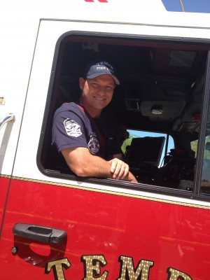 my hubby Scott was on duty and they drove by