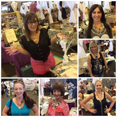 Tori my helper and more shoppers trying on pieces