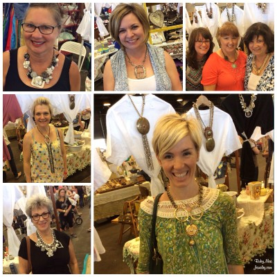 Shoppers trying on Ruby Mae pieces