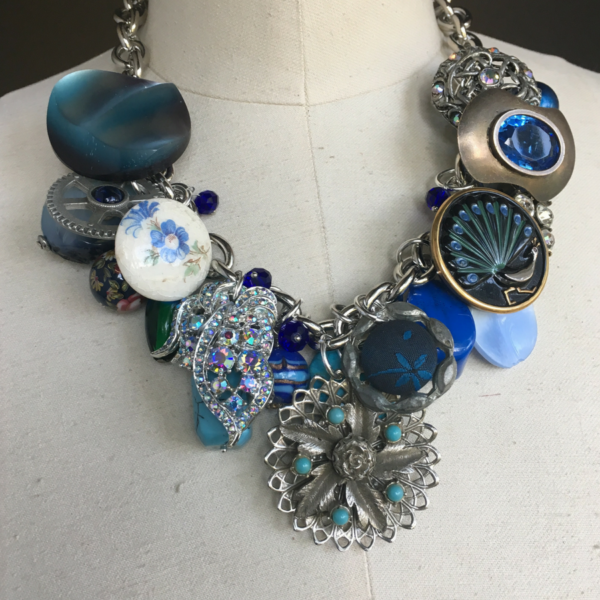 Blue Bayou Bib Necklace