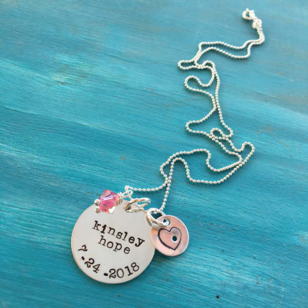 For Kinsleys Mom, name charm by @livehappyco