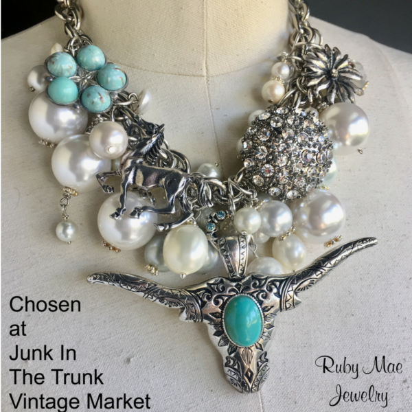 Mother Mary – chosen by a daughter for her 85 y/o mom who loves big jewelry