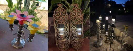 DIY Candelabra Solar Lighting For Your Backyard