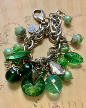green goddess button bracelet