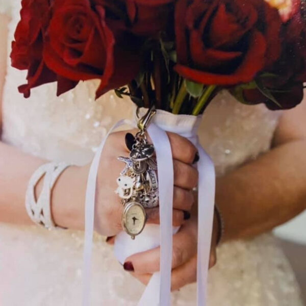 Megan & Sam Bridal Bouquet Charm